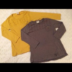 2/$14 Zara Girls round-neck tops with long sleeves
